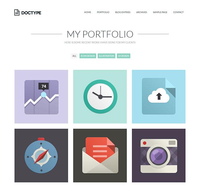 Doctype - A Flat and Minimal Portfolio Theme