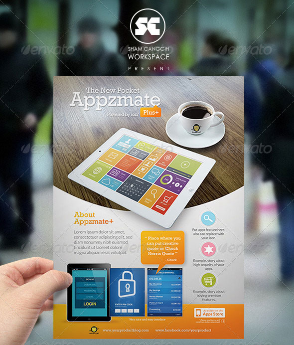 Mobile Apps Flyer/Magazine Ads