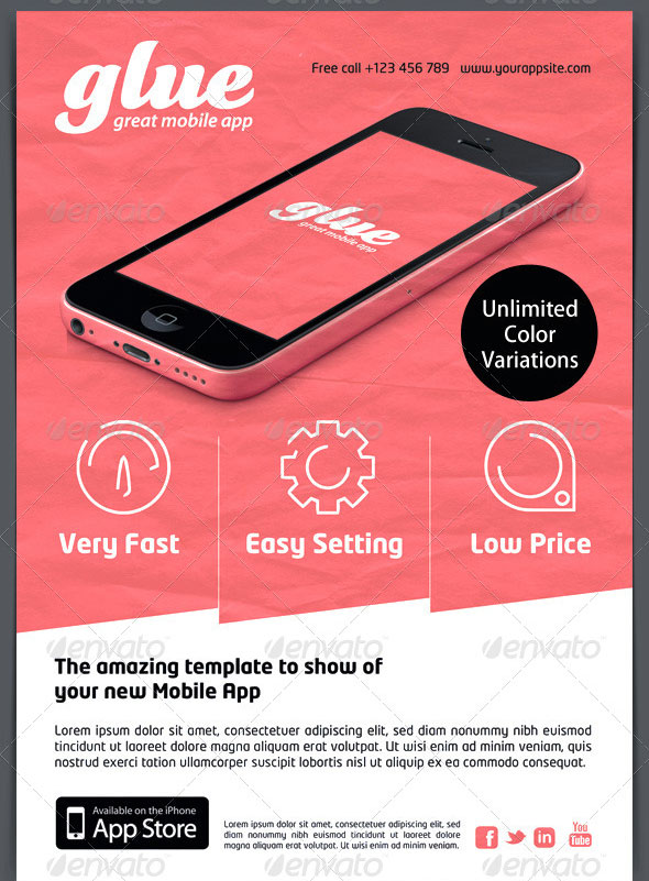 30 effective web  u0026 mobile apps flyer psd templates  u2013 web