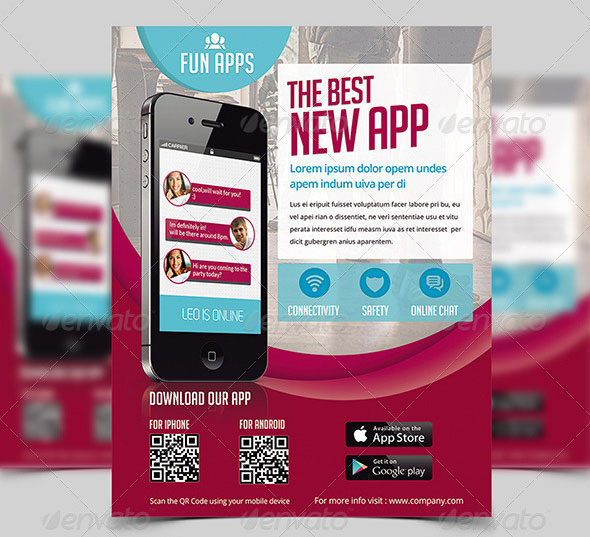 App Flyers / Magazine Ads