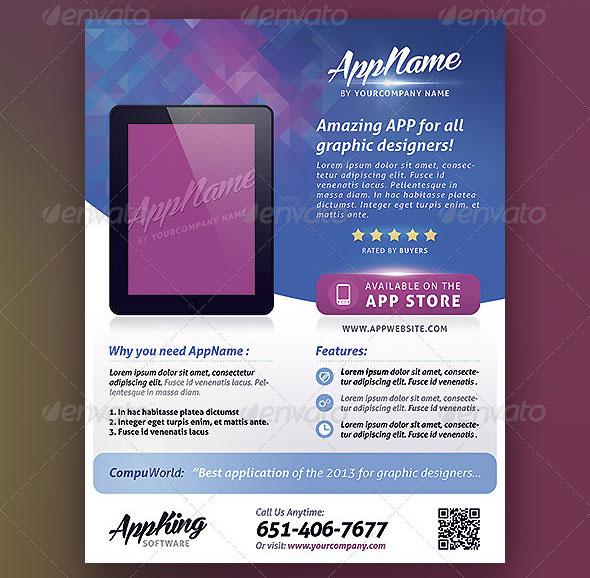 App Promotion Flyer