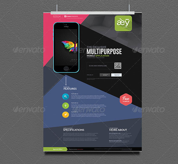 Multipurpose Mobile App Poster/Flyer