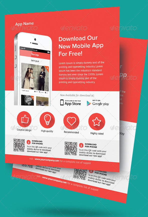 download modern app flyers
