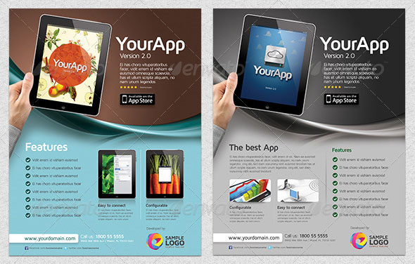 30 Effective Web & Mobile Apps Flyer Psd Templates | Web & Graphic