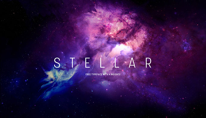 Stellar — 4 Weights — Free Typeface by Mathieu Desjardins