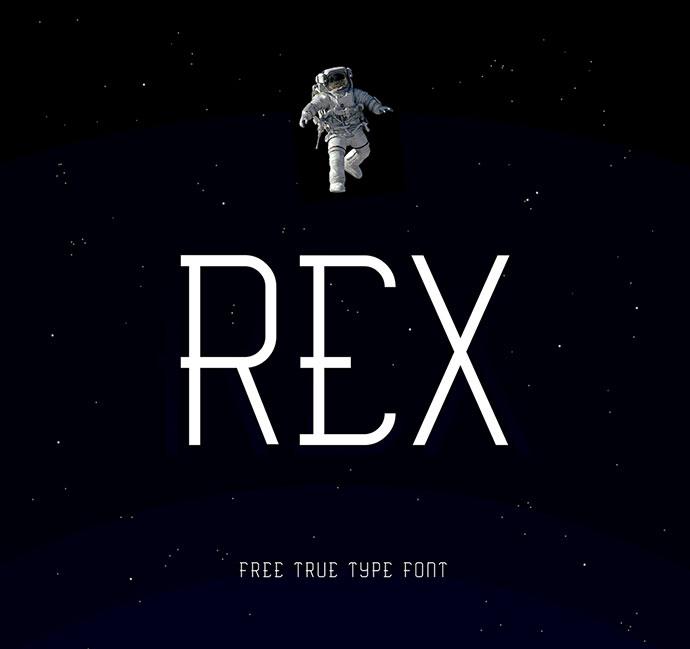 \\ REX //  Free True Type Font by thaw zin