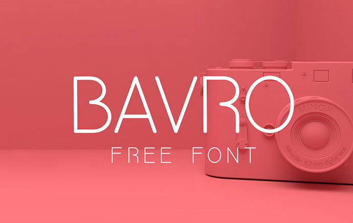 BAVRO FREE FONT by FREE GOODIES FOR DESIGNERS .