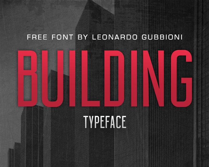 BUILDING Free Font by Leonardo Gubbioni