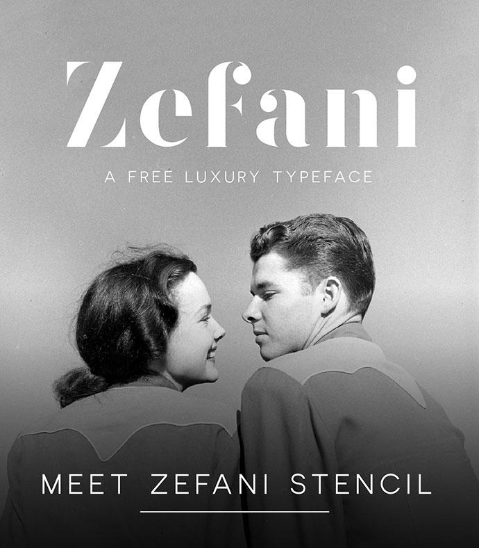 Zefani - Free Typeface by Andrew Herndon