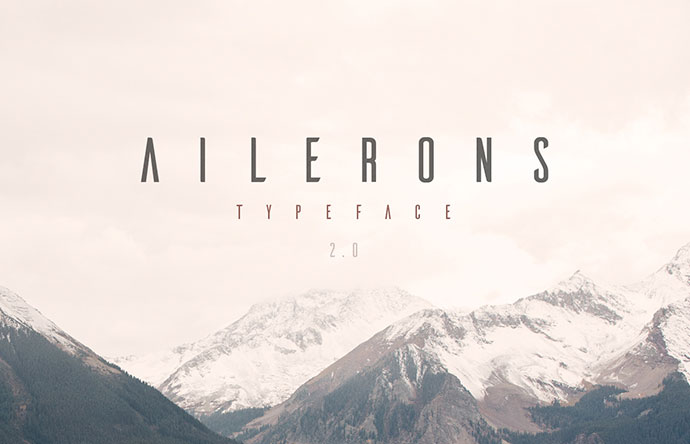 Ailerons Typeface by Adilson Gonzales de Oliveira Junior