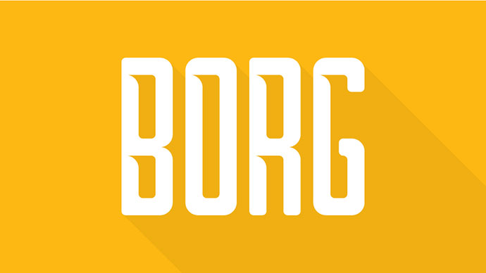 Borg Typeface (FREE) by titus prod