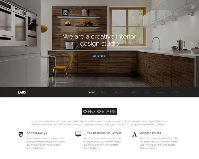 LARX - Interior Design Studio Template