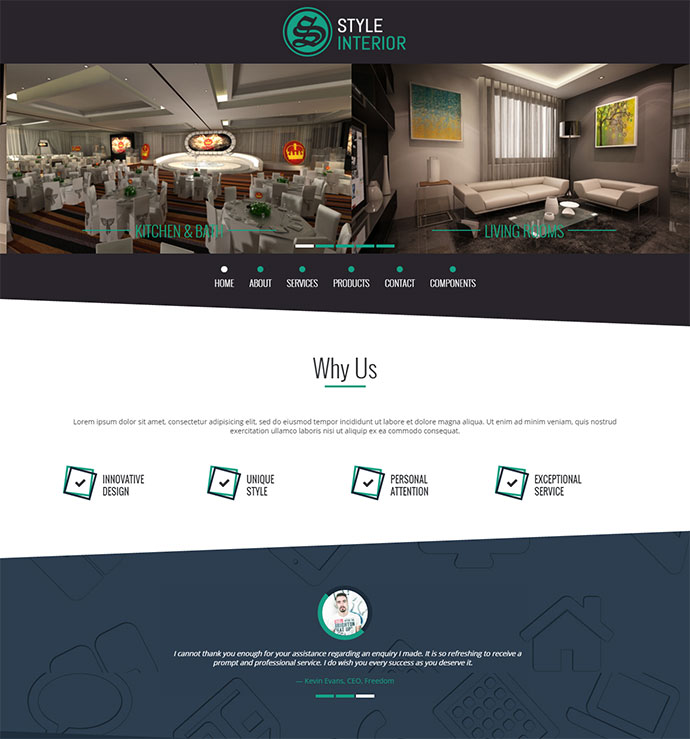 Style Interior - Bootstrap 3 One-Page Template