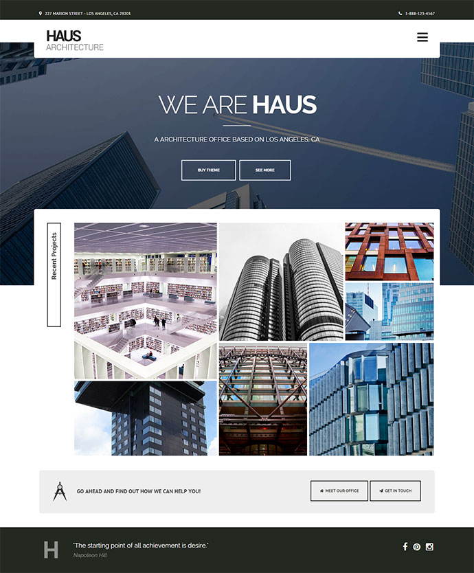 Haus - Architecture Template for Architects