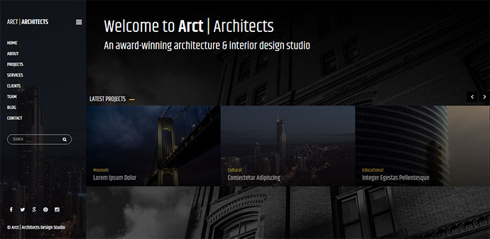 Arct - Architects Corporate Template