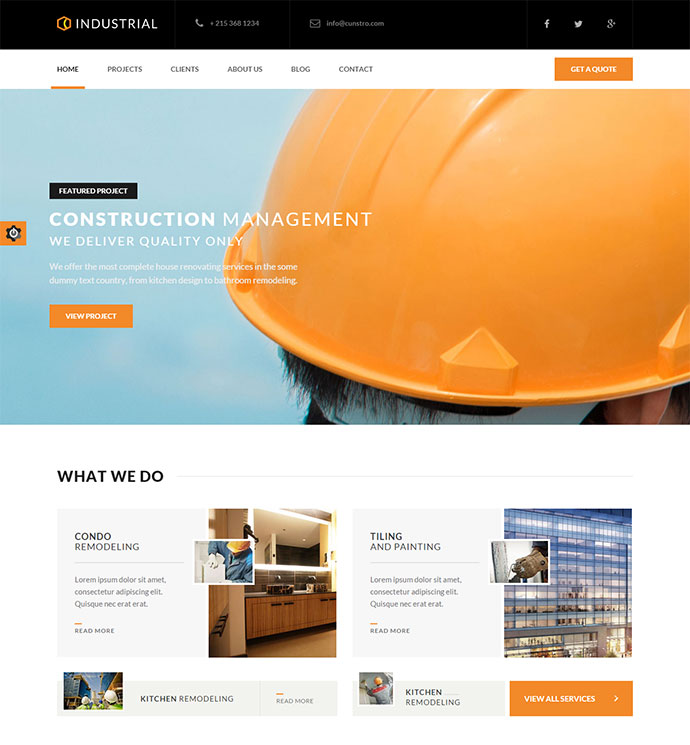 Industrial   Architects U0026 Engineers HTML5 Template