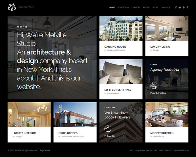 Melville – Architect Builder Designer HTML5