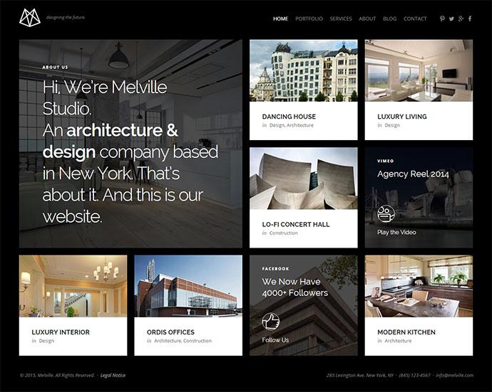 Melville – Architect Builder Designer HTML5