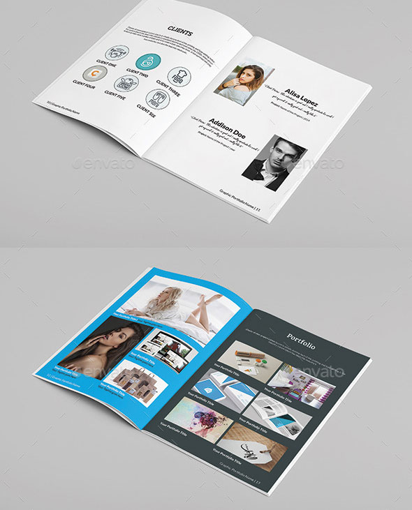 Multipurpose A4 Portfolio Brochure Template