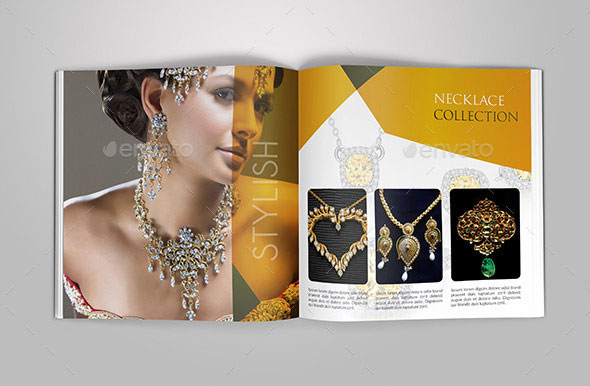 Beautiful Indesign Fashion Brochure Templates Web Graphic Jewelry