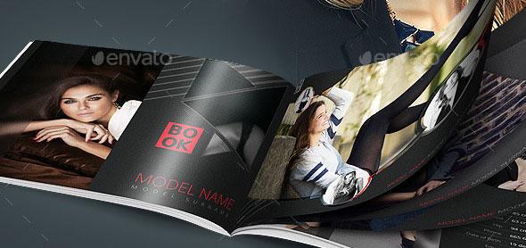 Model Book Design Brochure