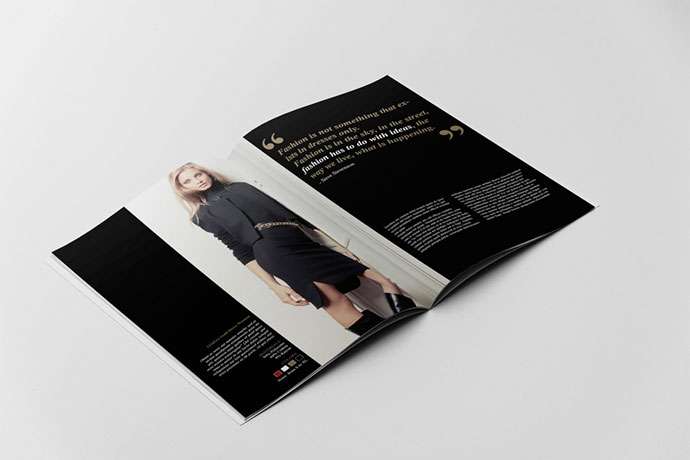 Beautiful Indesign Fashion Brochure Templates  Web  Graphic
