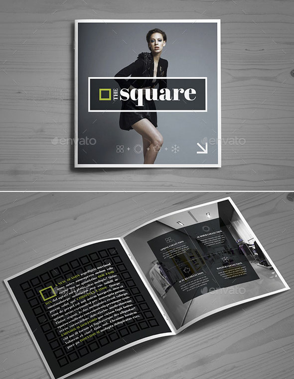 24 Page Square Fashion Brochure