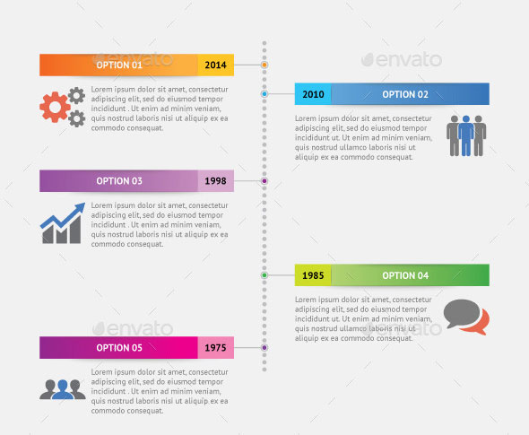 Vertical Dot Timeline Infographic