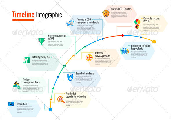 Amazing Timeline Infographic Templates Web Graphic Design - Timeline graphic template