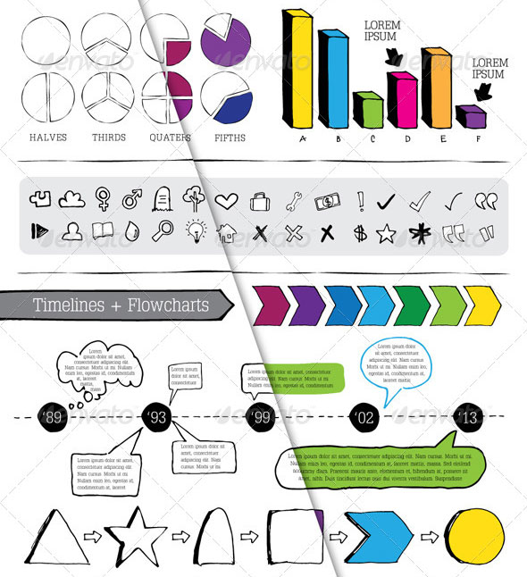 Hand Drawn Infographic Pack