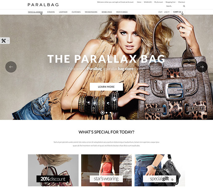 Opencart Fashion Bag Store