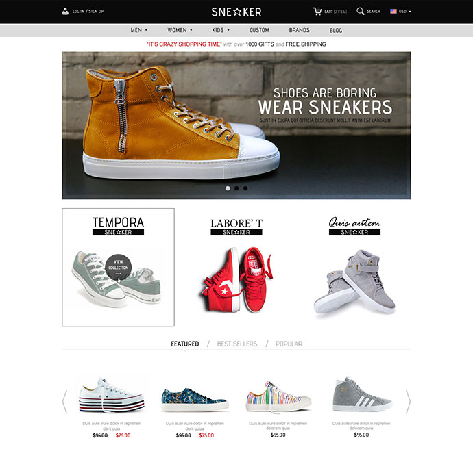 Opencart Fashion Shoes Store