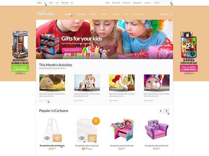 Opencart Kid Store Theme