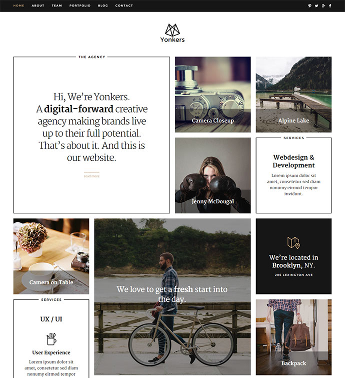 Yonkers – WP Portfolio Theme