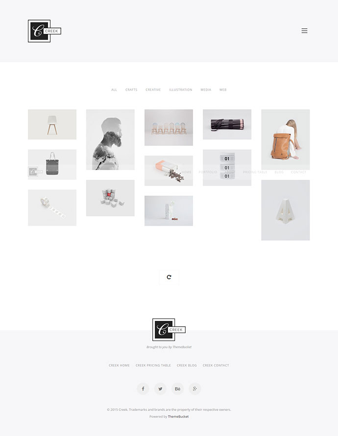 Creek Creative And Minimal WordPress Portfolio