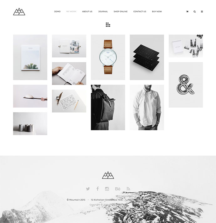 Mountain - The Minimal Portfolio Theme for Inspiration