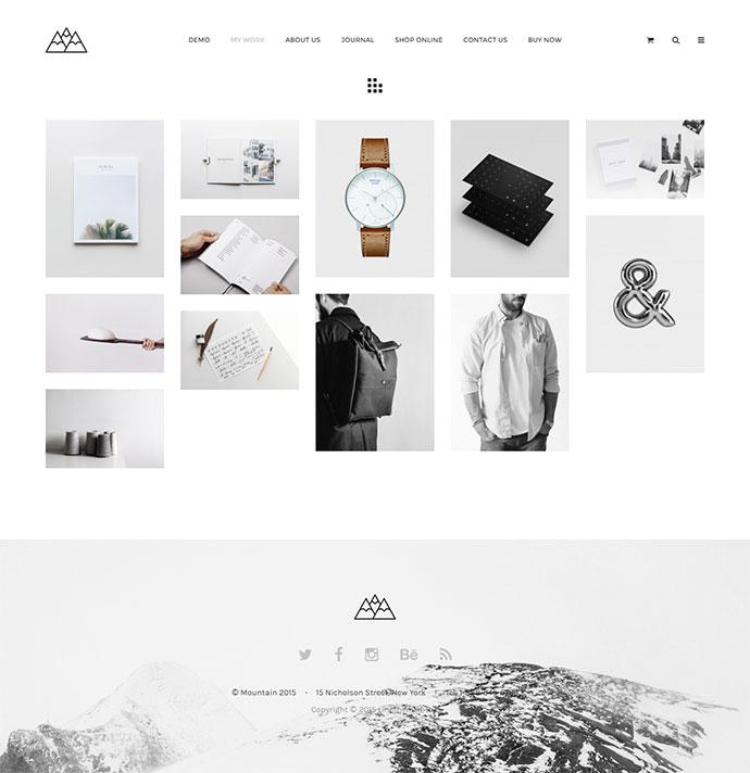 Mountain - The Minimal Portfolio Theme for Inspiration