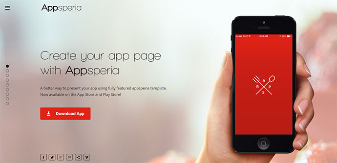 Appsperia - App Landing Page