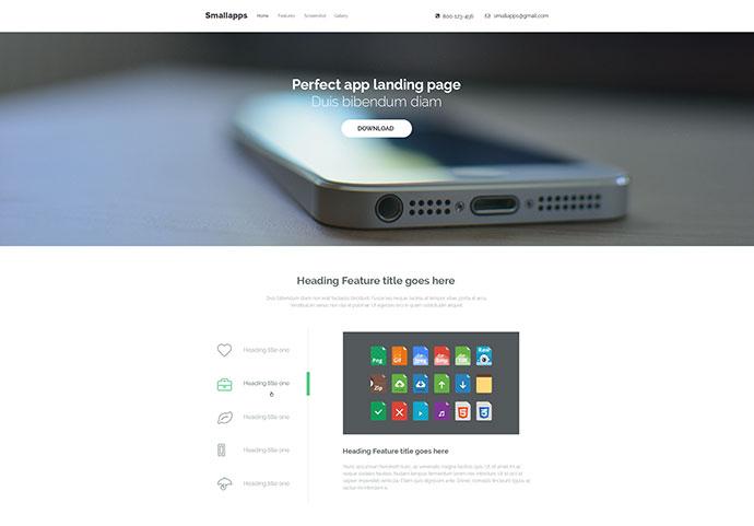 Smart App Landing Page