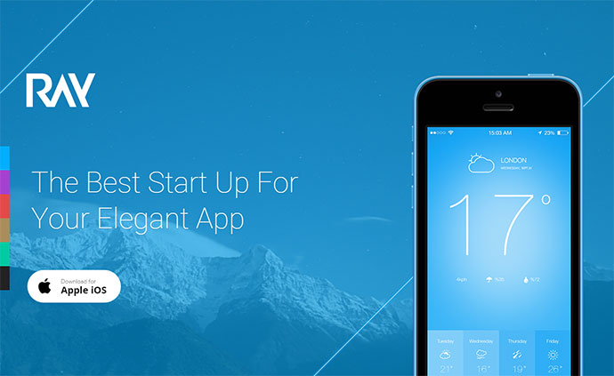 Ray - App Landing Page