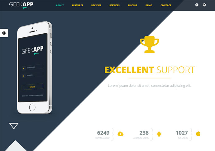 GeekApp - Creative App Landing Page