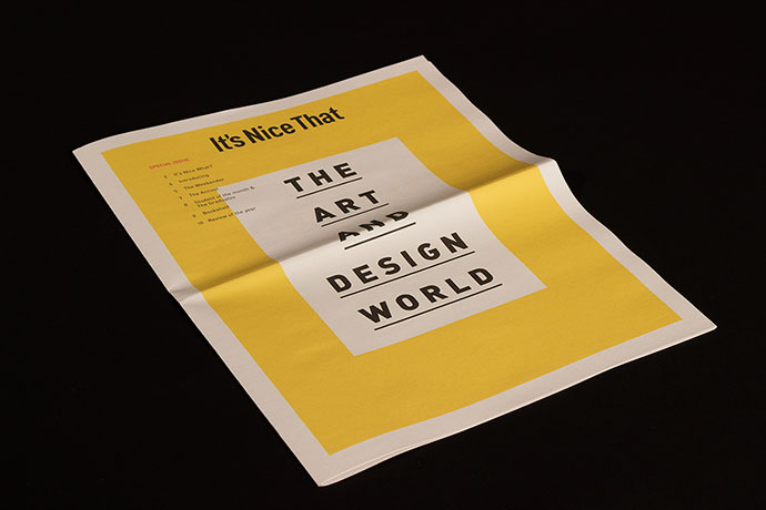 Its Nice That Newspaper by Elliot Galbraith