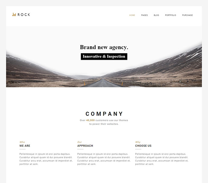 ROCKFOLIO - Portfolio & Agency Theme