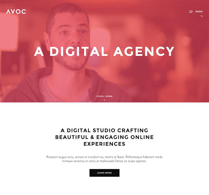 Avoc - Minimal Portfolio / Agency WordPress Theme
