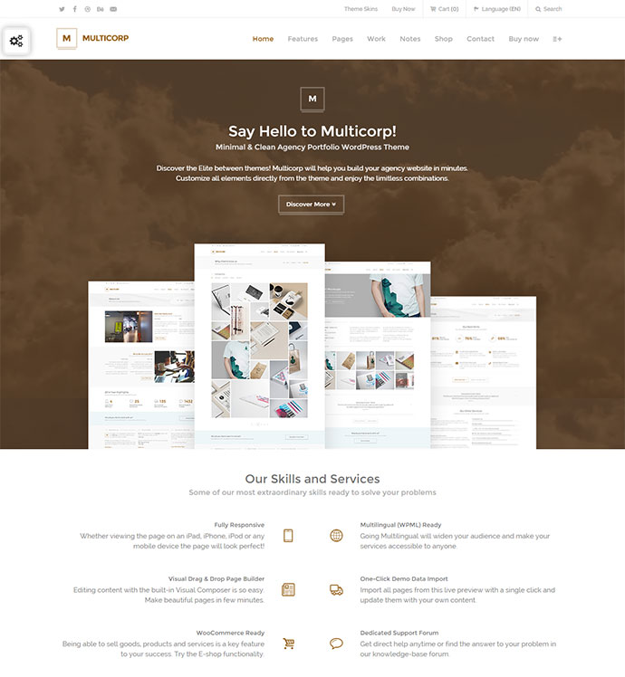 Clean Agency WordPress Theme
