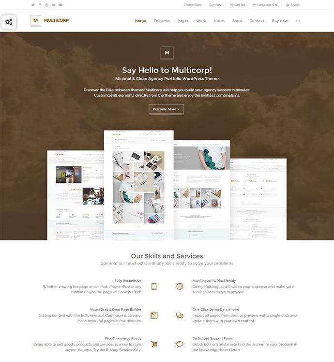 Clean Agency WordPress Theme