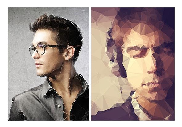 Art Triangles Photoshop Script