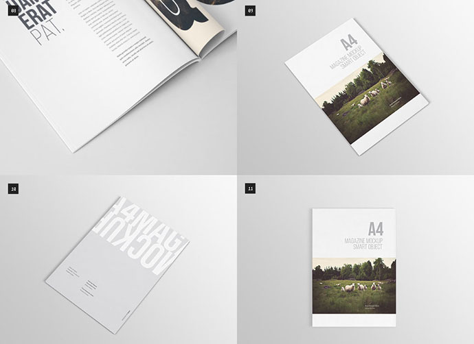 25 free psd magazine book design mockups web graphic design