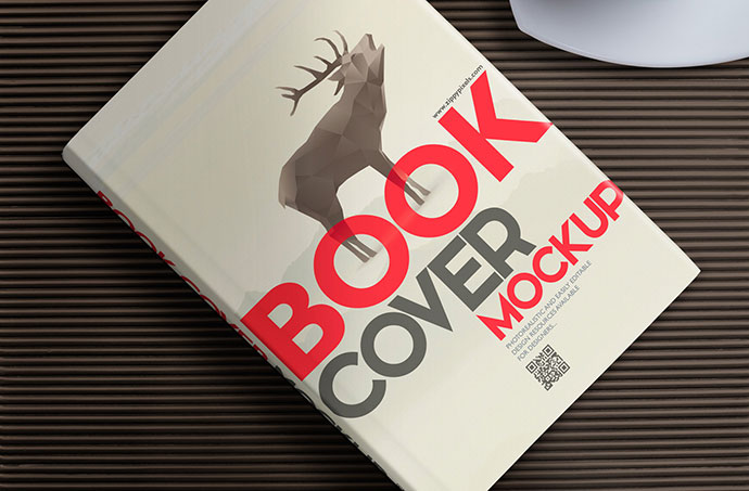 Free Book Mockup - Hardcover Edition