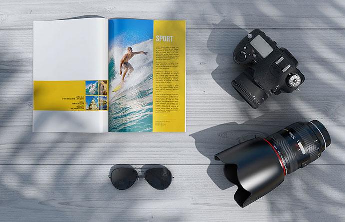Magazine PSD Mockups Vol2 (FREE PSD)
